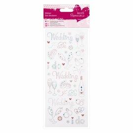 Embellishments / Verzierungen Sticker Glitter Dots - Bryllup