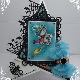 Wild Rose Studio`s Gennemsigtige frimærker, A7: Halloween kat