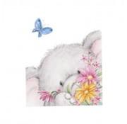 Wild Rose Studio`s Transparante stempels, A7: olifant met vlinder