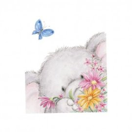 Wild Rose Studio`s Transparent Stempel, A7: Elefant mit Schmetterling