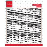Transparent stamps, background: Basket weave