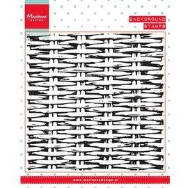 Marianne Design I timbri trasparenti, sfondo: tessitura Basket