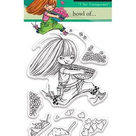 Penny Black Transparent stamps, A7: Girl with heart