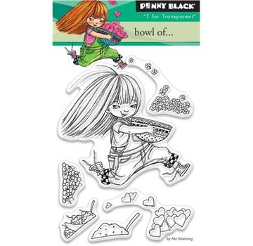 Penny Black I timbri trasparenti, A7: Ragazza con il cuore