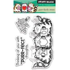 Penny Black Transparante stempels, A7: Kat met Liefde