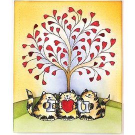 Penny Black Transparent Stempel, A7: Katzen mit Love