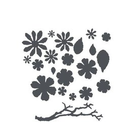 Sizzix Thinits The set: flowers, leaves and twigs