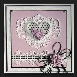 CREATIVE EXPRESSIONS und COUTURE CREATIONS cutting and embossing template: Jewels heart