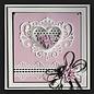 CREATIVE EXPRESSIONS und COUTURE CREATIONS Stanzschablone: Juwelen Herz  zum Muttertag , Valentin oder eine anderen Anlass!