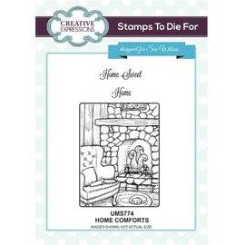 CREATIVE EXPRESSIONS und COUTURE CREATIONS Sello de goma: Home Comforts
