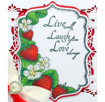 CREATIVE EXPRESSIONS und COUTURE CREATIONS Gummi Stempel: Erdbeere