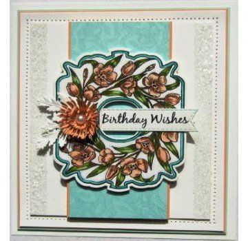 CREATIVE EXPRESSIONS und COUTURE CREATIONS Rubber stamp: Tulips