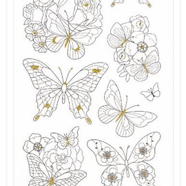 Sticker Paintable Stickers: butterflies