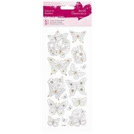 Sticker Overschilderbaar Stickers: vlinders