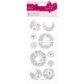 STICKER / AUTOCOLLANT Paintable Stickers: Garland
