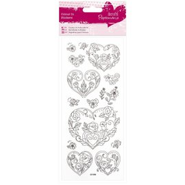 STICKER / AUTOCOLLANT Paintable Stickers: Rose heart