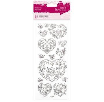 Sticker Adesivi verniciabili: Cuore della Rosa