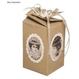 Plantilla, caja de regalo, de unos 10 cm de alto, 6 cm de ancho