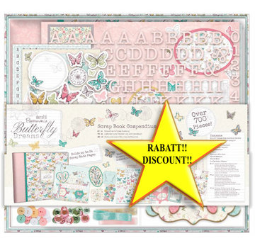 BASTELSETS / CRAFT KITS SPECIALE AANBIEDING! 20% korting begint eind juni 2018! Butterfly Dreams - slechts 1 op voorraad!