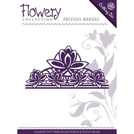 Precious Marieke plantilla de perforación: Flor de Lis