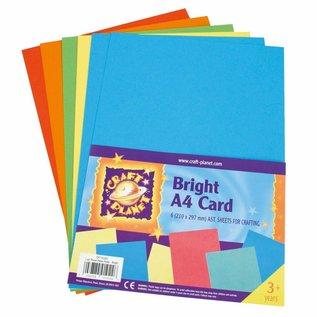 Karten und Scrapbooking Papier, Papier blöcke A4 cardboard, Assorted fluorescent colors