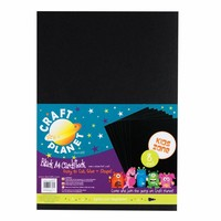 8 sheets A4 cardboard, Black