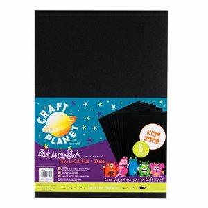 Karten und Scrapbooking Papier, Papier blöcke 8 feuilles de carton A4, noir