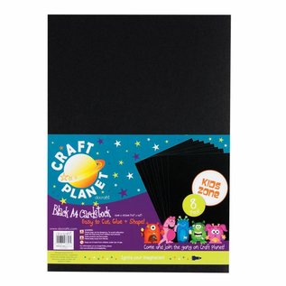 Karten und Scrapbooking Papier, Papier blöcke 8 fogli di cartone A4, Nero