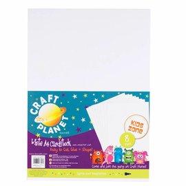 Karten und Scrapbooking Papier, Papier blöcke 8 Bogen, A4 Karton, Weiss