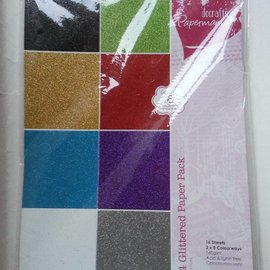 Karten und Scrapbooking Papier, Papier blöcke A4 papel pista del brillo