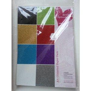 Karten und Scrapbooking Papier, Papier blöcke A4 Papierblock Glitzer