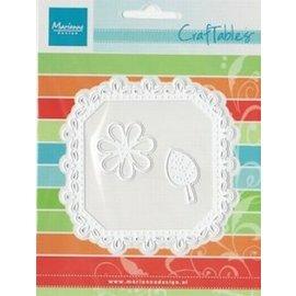 Marianne Design Marianne Design, vierkant & Flower - Stitch Motif