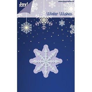 Joy!Crafts / Jeanine´s Art, Hobby Solutions Dies /  Joy Crafts,Eiskristall Nr. 1, Durschnitt 50mm, Schneide-und Prägeschablonen - Copy