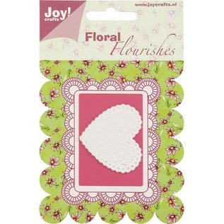 Joy Crafts, cutting and embossing stencil heart.