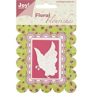Joy Crafts, cutting and embossing stencil butterfly.