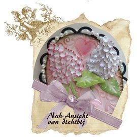 Schneide- und Präge Schablone Mery stencil Blume, Aufbau