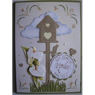 Joy! Crafts, Joy Crafts, snijden en embossing stencil Birdhouse