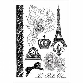 Prima Marketing und Petaloo Prima Marketing Cling Stamps En Francais