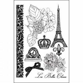 Prima Marketing und Petaloo Prima Marketing Stamps Cling En Francais