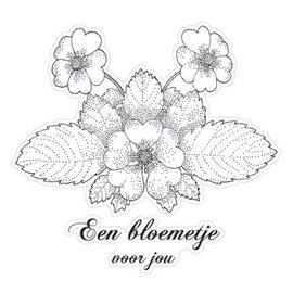 Stempel / Stamp: Transparent Clear stempels, Bloem