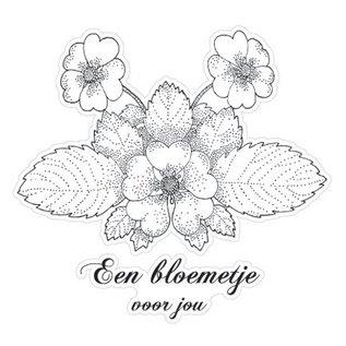 Stempel / Stamp: Transparent Marianne Design clear stempels, Bloem