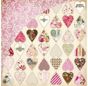 Designer Papier Scrapbooking: 30,5 x 30,5 cm Papier Booth Embrasser, briseur de coeur, Kis-3554, 30,5 x 30,5 cm