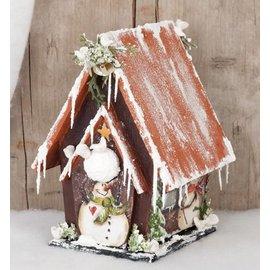 Objekten zum Dekorieren / objects for decorating Vogelhuisje om te decoreren, hout - LAATSTE op voorraad!