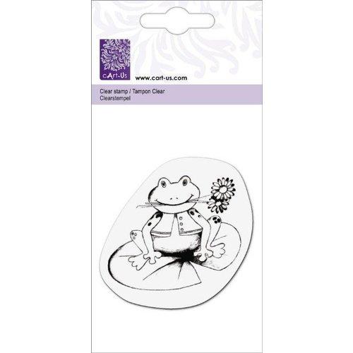 """Cart-Us Transparent-Stempel, """"Frosch mit Blume"""""""