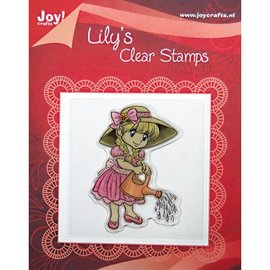 Clear stamps, Lily with a watering can
