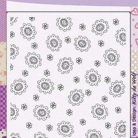 "Cart-Us Transparent background stamp, ""flowers"""