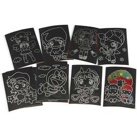 Kinder Bastelsets / Kids Craft Kits Kras Beelden, 10x15 cm, 10 stuks