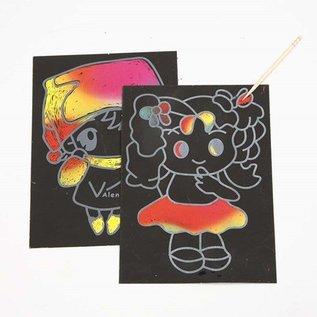 Kinder Bastelsets / Kids Craft Kits Scratch Images, 10x15 cm (A6), 10 pieces