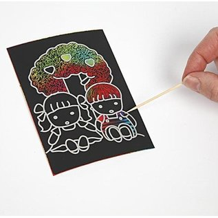 Kinder Bastelsets / Kids Craft Kits Kratzbilder, 10x15 cm (A6), 10 Stück