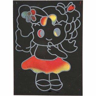 Kinder Bastelsets / Kids Craft Kits Kras Beelden, 10x15 cm (A6), 10 stuks